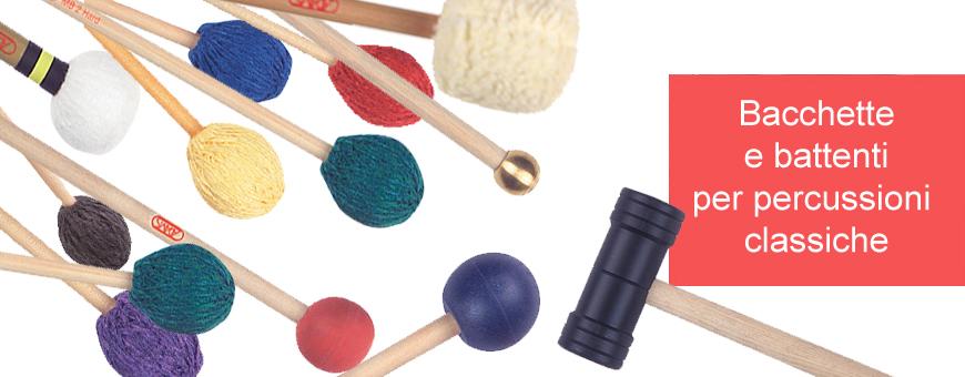 Bacchette e battenti per percussioni classiche