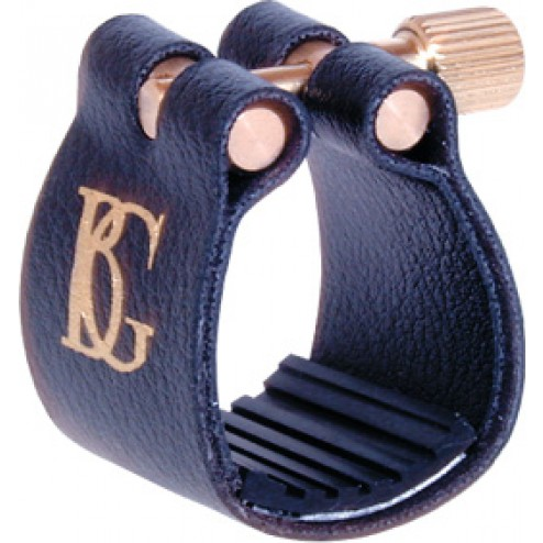 Legatura BG mod. Standard per sax baritono con copri bocchino in plastica Cod.L15