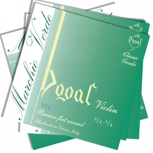 Corde Violino Dogal linea Verde  V21 set 3/4- 4/4