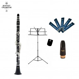 Clarinetto in Sib Buffet Crampon Prodige BC2541L-2-0GB kit per studente
