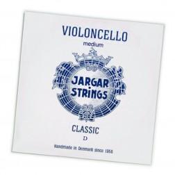 Corda Violoncello RE (D) Jargar tensione media con pallino