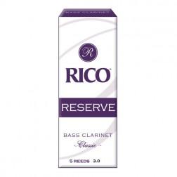 Ance Rico Reserve Classic per clarinetto basso, pacco da 5 ance
