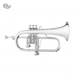 """Flicorno soprano in Sib B&S 3145 argentato mod. BS3145-2-0 """"CHALLENGER I"""""""