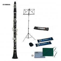 Clarinetto Yamaha YCL-255S Sib senza leva del Mib chiavi argentate con Kit per studente