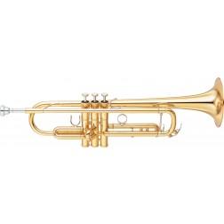 Tromba in Sib Yamaha YTR 8335LA serie Custom laccata dorata.